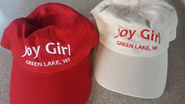 Joy Girl hats red stone