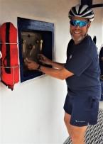 Craig opening the lock