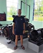 Craig with the generators
