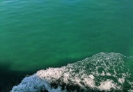 The water was either blue or green