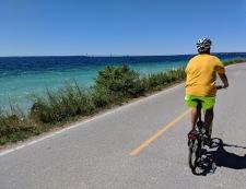 We rode the 8.2 miles around the island twice