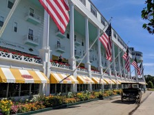 Mackinaw Grand Hotel with carriage