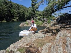 Dinghed to this cute little island in the Baie Fine channel