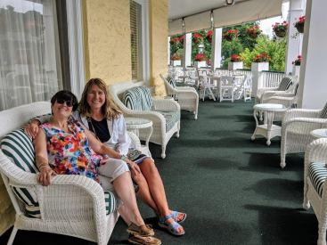 Deb and Niki at the lovely, historic 1889 Perry Hotel in Petoskey