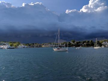 Storm on Round Lake, Charlevoix