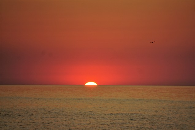 Sunrise over Lake Michigan