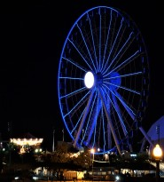 Navy Pier's famous ferris wheel and carousel