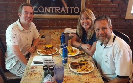 The Rivers-Lunch with Paul Kozak, our nephew