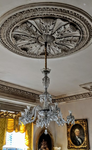 Tiffiany chandelier at Waverly