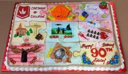 Amazing birthday cake highlighting memories of Shirley's life