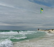 Kite surfing in paradise