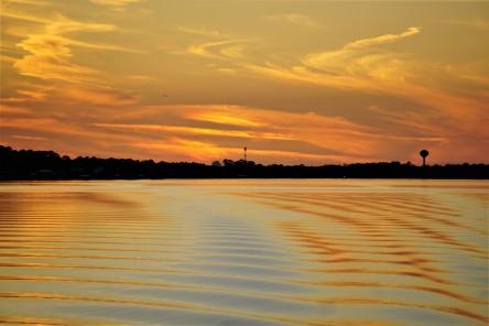 Ripple sunset at anchor
