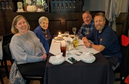 Birthday dinner with Linda, Shirley, Gary and Craig