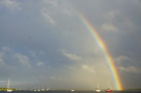 Rainbow off our stern