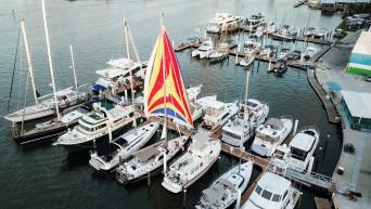 Sailboat docked next to us